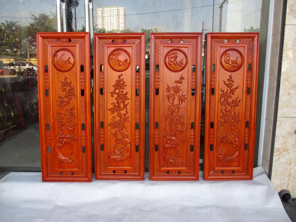 Bộ tranh gỗ tứ quý bốn mùa vinh hoa phú quý 107cm - TGPX2296PU