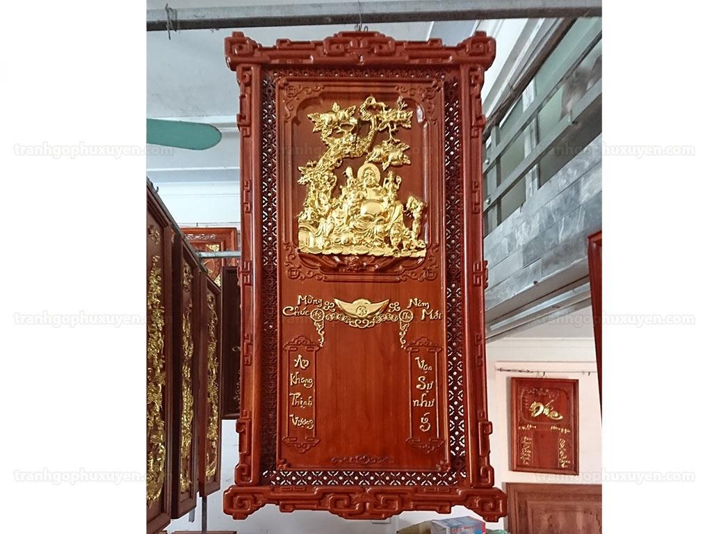 Đốc lịch gỗ hương treo tường khung triện 88cm x 48cm - TGPX2217