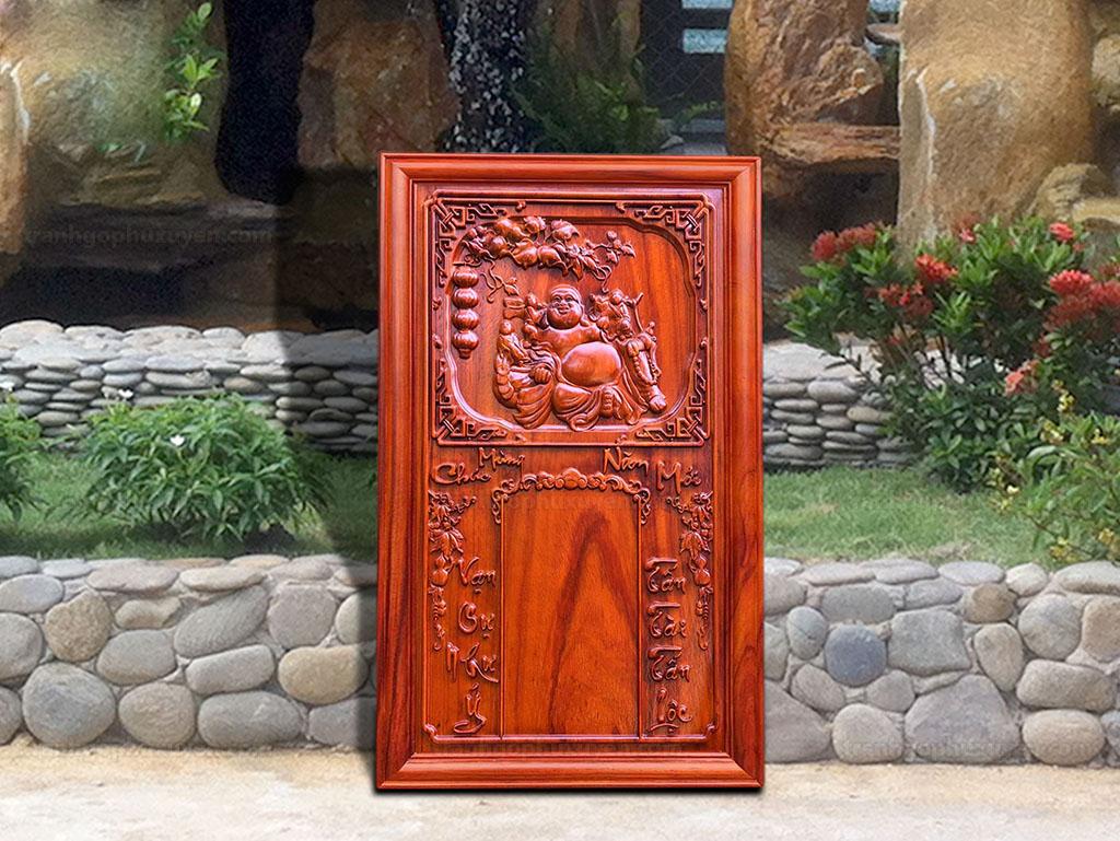 Đốc lịch gỗ hương phật di lặc 41cm x 67cm - TGPX2118