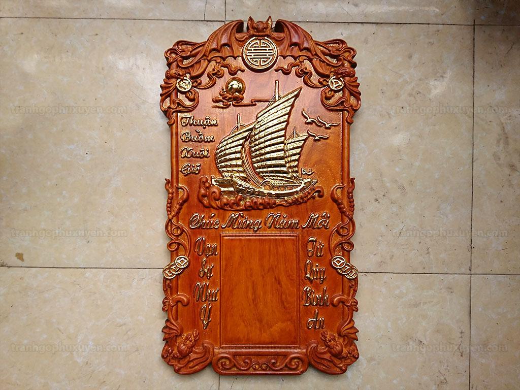 Đốc Lịch gỗ hương Thuận Buồm Xuôi Gió 76cm - TGPX2231