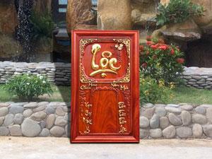 Đốc lịch bằng gỗ chữ Lộc dát vàng 41cm x 67cm - TGPX2134