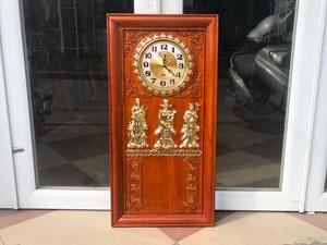 Đốc lịch đồng hồ phúc lộc thọ gỗ hương 41cm x 81cm - TGPX2103