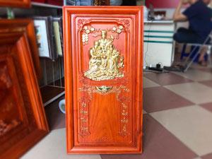 Đốc lịch gỗ hương treo tường phúc lộc thọ 81cm x 41cm - TGPX2216
