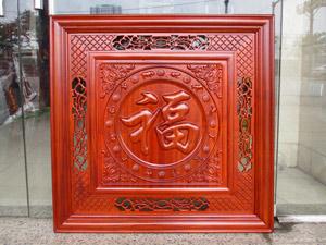Tranh chữ Phúc nho gỗ hương 81cm x 81cm sơn pu - TGPX2289PU