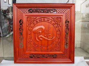 Tranh chữ Phúc thư pháp gỗ hương 81cm x 81cm sơn pu - TGPX2287PU