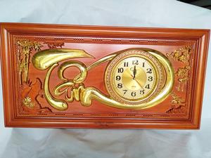 Tranh gỗ đồng hồ chữ Tâm 81cm - TGPX2155