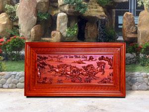 Tranh gỗ Bát Mã Truy Phong 1m27 - TGPX2111