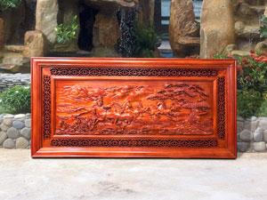 Tranh gỗ Bát Mã Truy Phong gỗ hương - TGPX2006