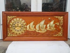 Tranh gỗ đồng hồ Thuận buồm xuôi gió 1m08 - TGPX2100