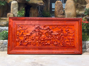 Tranh gỗ Đồng Quê đục tay 1m97 - TGPX2032