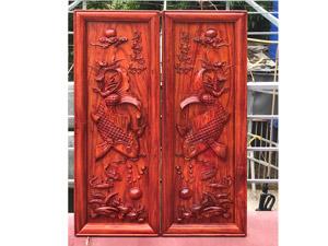 Tranh gỗ hương Lý Ngư Vọng Nguyệt hàng đẹp dày dặn 110cm x 40cm - TGPX2309PU
