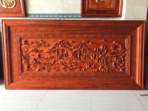 Tranh gỗ hương Phong Cảnh Làng Quê Việt Nam 1m98 x 98cm - TGPX2302PU