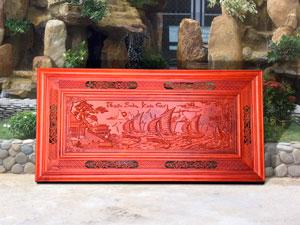Tranh gỗ hương Thuận Buồm Xuôi Gió 1m97 x 97cm - TGPX2124