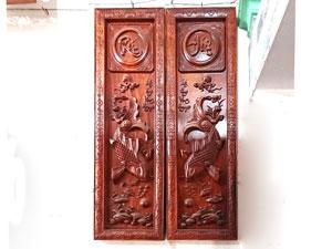 Tranh gỗ Lý Ngư Vọng Nguyệt đục tay cao cấp - TGPX2237