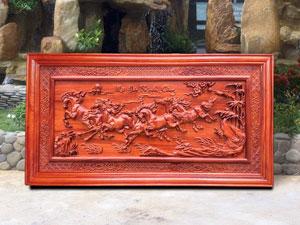 Tranh gỗ Mã Đáo Thành Công 1m55 - TGPX2112