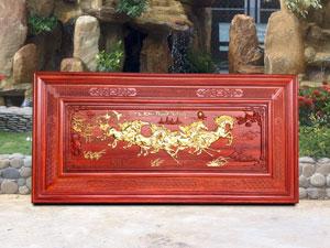 Tranh gỗ Mã Đáo Thành Công dát vàng 1m97 - TGPX2107