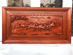 Tranh gỗ Mã Đáo Thành Công kênh bong hàng kỹ 1m27 - TGPX2242PU