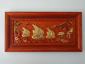 Tranh gỗ thuận buồm xuôi gió 155cm x 79cm - TGPX2184
