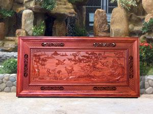 Tranh gỗ hương Tùng Hạc 1m97 - TGPX2042