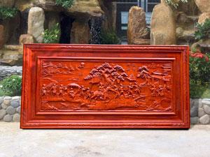 Tranh gỗ Vinh Quy Bái Tổ kích thước 1m97 - TGPX2141
