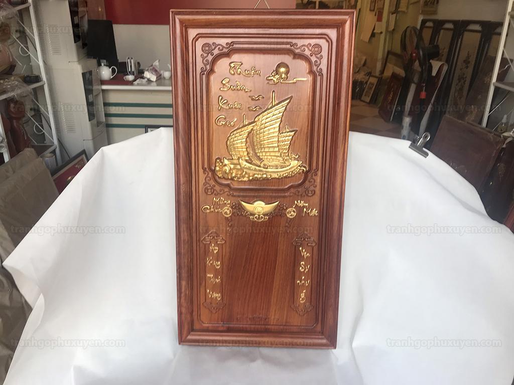 Tranh Gỗ Đốc Lịch Thuận Buồm Xuôi Gió 41cm x 81cm - TGPX2171