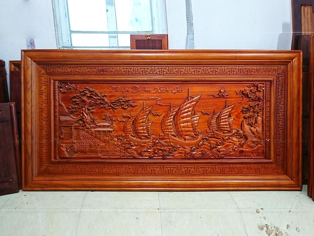 Tranh gỗ Thuận Buồm Xuôi Gió ngang 1m97 - TGPX2220